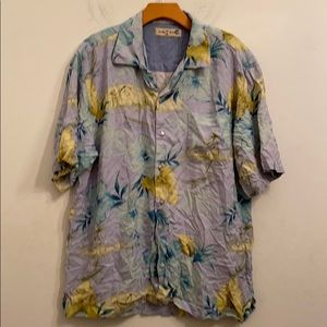 Tommy Bahama blue floral shirt
